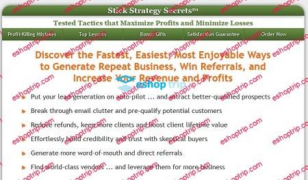Alex Mandossian Stick Strategy Secrets6