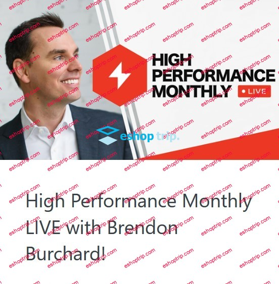 Brendon Burchard High Performance Monthly 2017