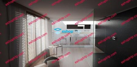 Curse Studio Interior Bathroom Tutorial VrayForC4D Scene File