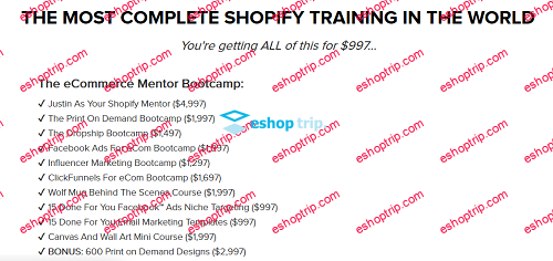 Justin Cener The eCommerce Bootcamp 2019