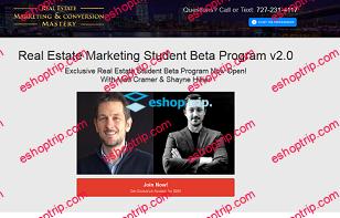 Matt Cramer Shayne Hillier Real Estate Marketing Student Beta Program V2 0