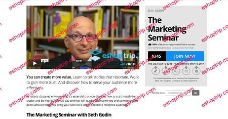 Seth Godin The Marketing Seminar Summer Session