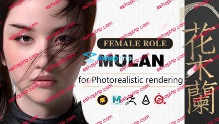 Yiihuu Liu yifei likeness as Mulan for Photorealistic rendering