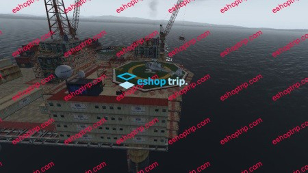 Learn to fly Helicopter Challenge Oil platforms at sea
