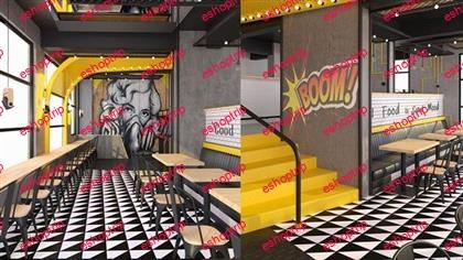 Interior Design Process of a Cafe Restaurant