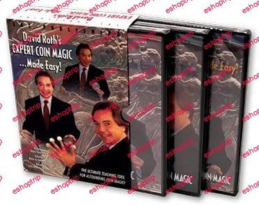 David Roth Expert Coin Magic Made Easy 3 DVD Set