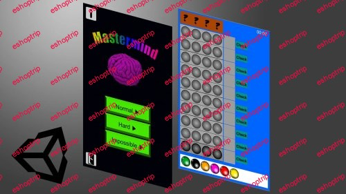 Create your own 2D Mastermind game with the use of the Unity Engine