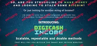 Digicash Income Earn hundreds in Bitcoin 2 simple proven methods