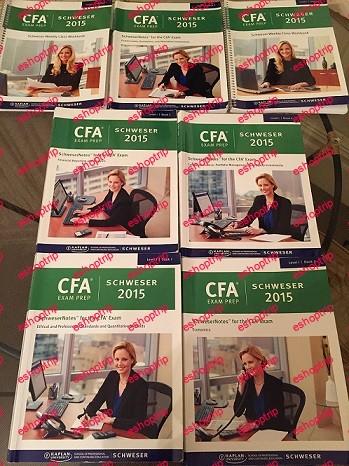 Kaplan Schweser CFA 2015 Level 123 Full pack