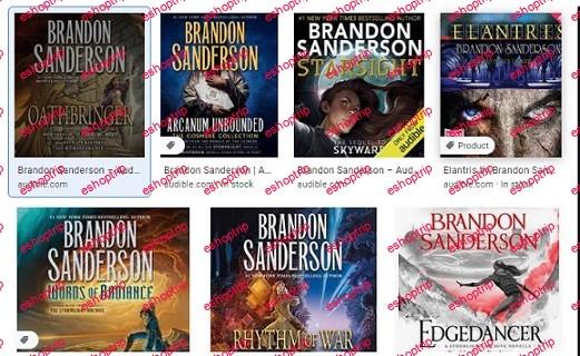 Brandon Sanderson Audiobooks 7 series