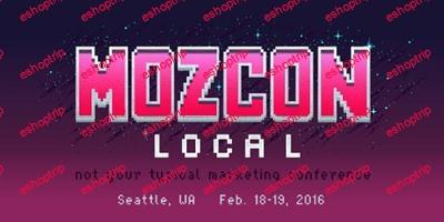 MozCon Local SEO 2016