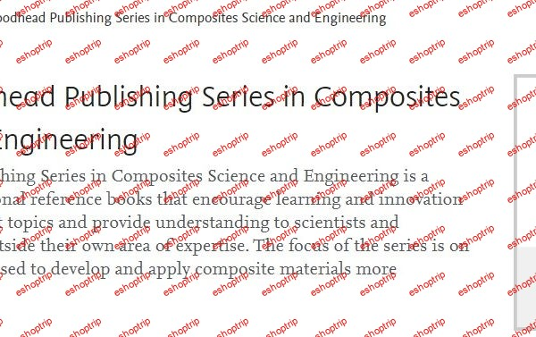 Woodhead Publishing Series in Composites Science and Engineering